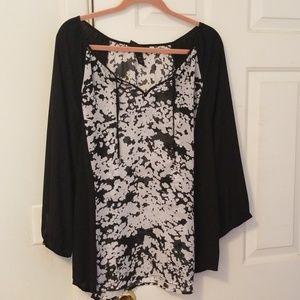 Lane bryant sheer peasant blouse